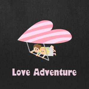 couple flying on heart shape hang glider Bags & backpacks - Tote Bag