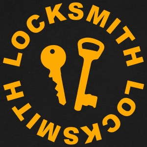 Locksmith T-Shirts - Men's V-Neck T-Shirt by Canvas