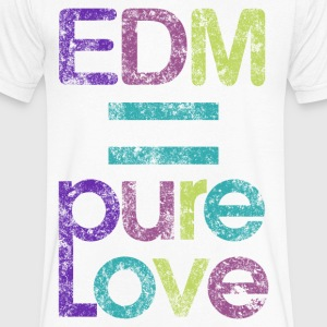 EDM = Pure Love - Men's V-Neck T-Shirt by Canvas