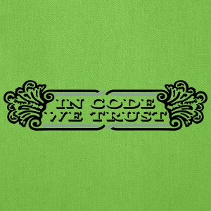 in code we trust dollar Bags & backpacks - Tote Bag