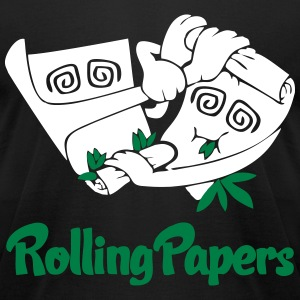 Rolling Papers T-Shirts - Men's T-Shirt by American Apparel