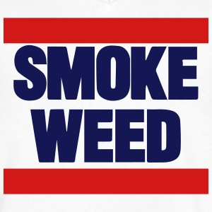 SMOKE WEED T-Shirts - Men's V-Neck T-Shirt by Canvas
