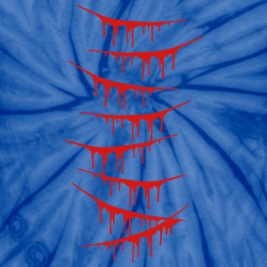 Scratch Wounds Design T-Shirts - Unisex Tie Dye T-Shirt