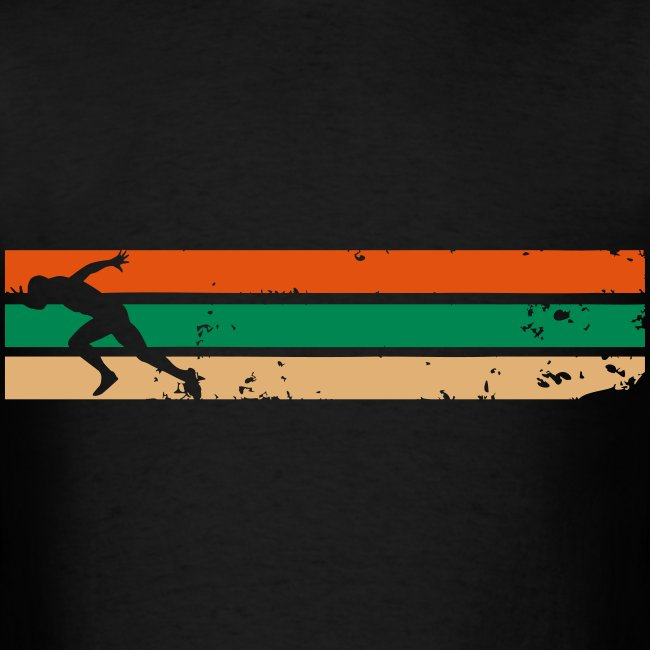 Running with Strips Design - Tshirt