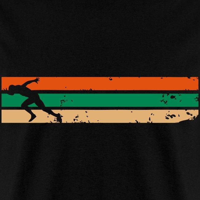 Running with Strips Design - Tshirt