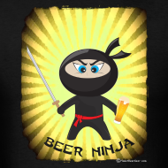 Design ~ Beer Ninja Men's T-Shirt