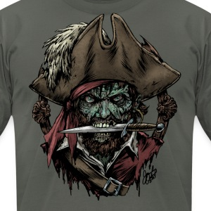 Zombie Pirate T-shirt - Men's T-Shirt by American Apparel