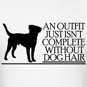 an outfit just isn't complete without dog hair T-Shirts - Men's T-Shirt