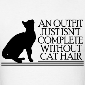 an outfit just isn't complete without cat hair T-Shirts - Men's T-Shirt