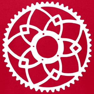 bicycle chainring 2 T-Shirts - Men's T-Shirt by American Apparel