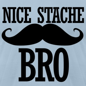 Nice Stache - Men's T-Shirt by American Apparel