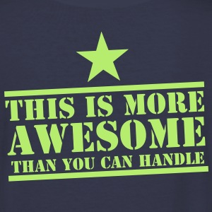 This is more AWESOME than you can handle with star Women's T-Shirts - Women's V-Neck T-Shirt