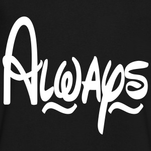 Always T-Shirts - Men's V-Neck T-Shirt by Canvas