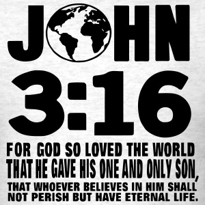 JOHN 3:16 FOR GOD SO LOVED THE WORLD T-Shirts - Men's T-Shirt
