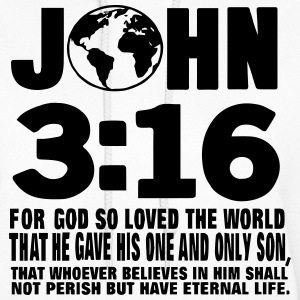JOHN 3:16 FOR GOD SO LOVED THE WORLD Hoodies - Women's Hoodie