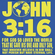 JOHN 3:16 FOR GOD SO LOVED THE WORLD Hoodies