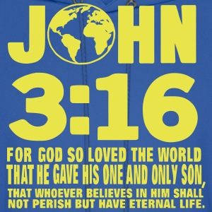 JOHN 3:16 FOR GOD SO LOVED THE WORLD Hoodies - Men's Hoodie