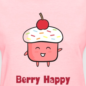 cute cupcake with rainbow sprinkles and cherry Women's T-Shirts - Women's T-Shirt