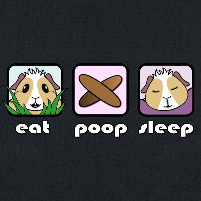 'Eat Poop Sleep' Guinea Pig Tote Shopping Bag