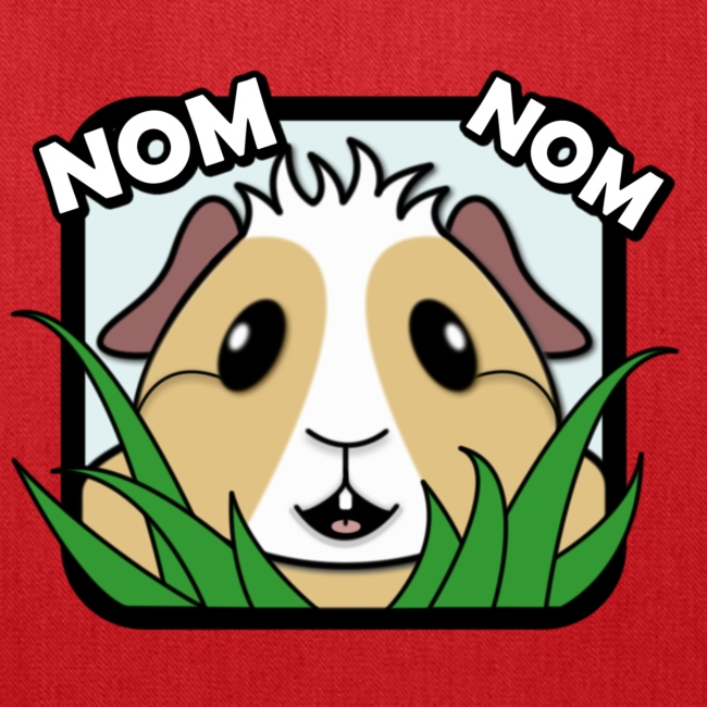 'Nom Nom' Guinea Pig Tote Shopping Bag