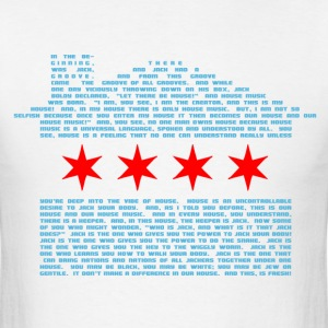 Jack's Chicago Flag - EDM T-Shirts - Men's T-Shirt