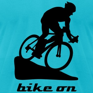 biker, cyclist, cycling T-Shirts - Men's T-Shirt by American Apparel