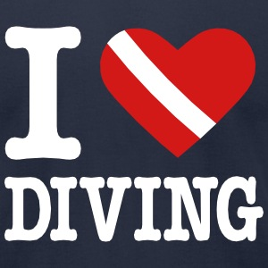 I love Diving T-Shirts - Men's T-Shirt by American Apparel