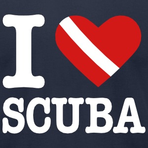 I love Scuba diving T-Shirts - Men's T-Shirt by American Apparel