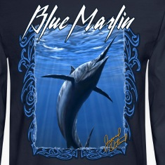 Blue Marlin fishing ,long sleeve t-shirt
