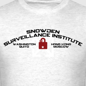SNOWDEN SURVEILLANCE INSTITUTE (spoof) T-Shirts - Men's T-Shirt