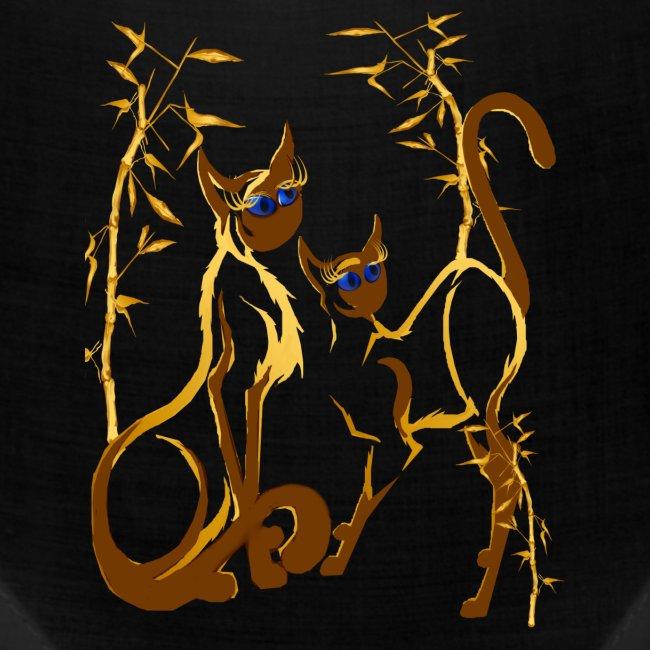 Two gold Siamese Kitties