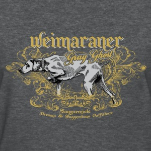weimaraner_gray_ghost_on_dark Women's T-Shirts - Women's T-Shirt