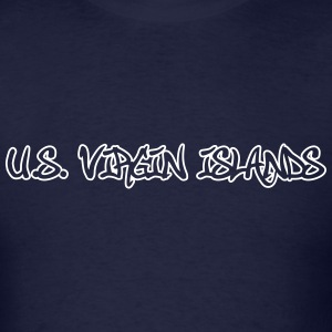 Us Virgin Islands Graffiti Outline T-Shirts - Men's T-Shirt