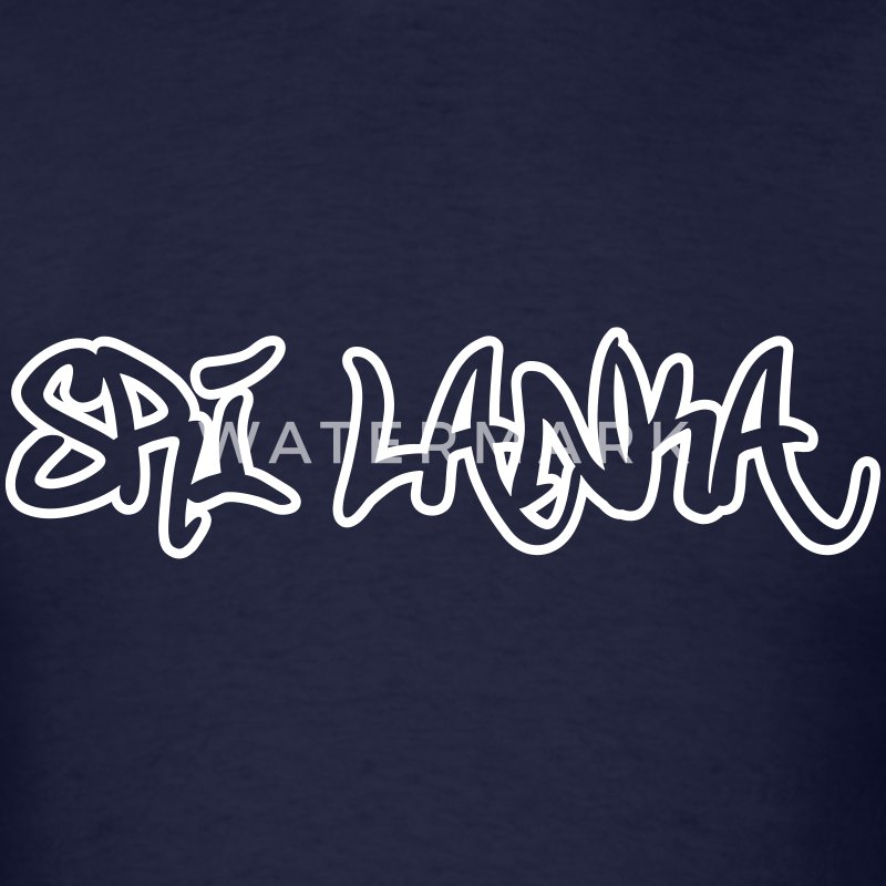 Sri Lanka Graffiti Outline T-Shirts - Men's T-Shirt