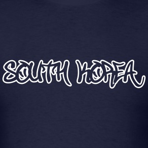 South Korea Graffiti Outline T-Shirts - Men's T-Shirt