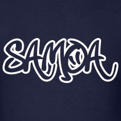 Samoa Graffiti Outline T-Shirts