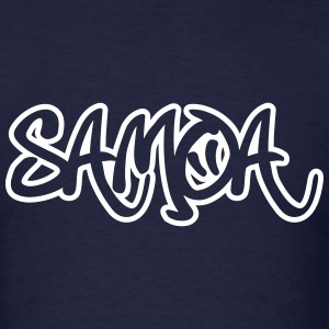 Samoa Graffiti Outline T-Shirts - Men's T-Shirt