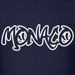 Monaco Graffiti Outline T-Shirts - Men's T-Shirt