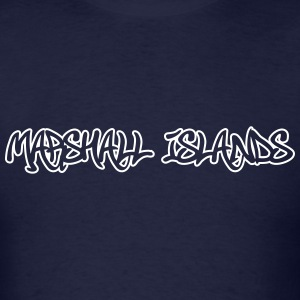 Marshall Islands Graffiti Outline T-Shirts - Men's T-Shirt
