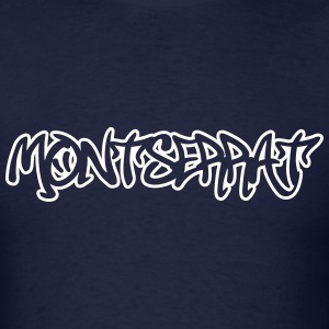 Montserrat Graffiti Outline T-Shirts - Men's T-Shirt