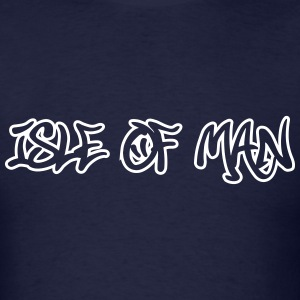Isle Of Man Graffiti Outline T-Shirts - Men's T-Shirt