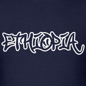 Ethiopia Graffiti Outline T-Shirts - Men's T-Shirt