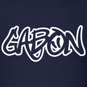 Gabon Graffiti Outline T-Shirts - Men's T-Shirt