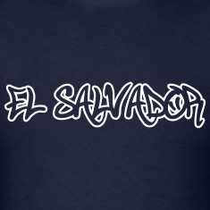 El Salvador Graffiti Outline T-Shirts