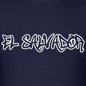 El Salvador Graffiti Outline T-Shirts - Men's T-Shirt