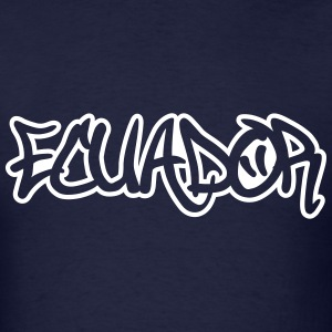 Ecuador Graffiti Outline T-Shirts - Men's T-Shirt