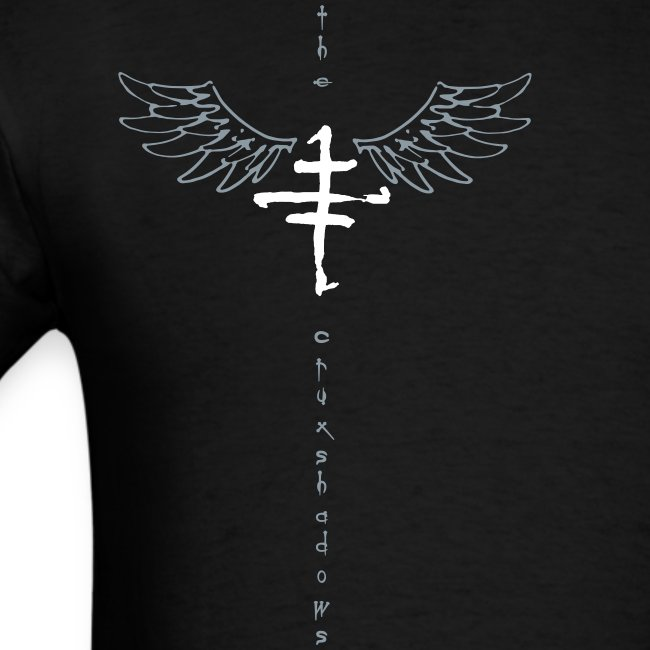 Mens offset Logo T with Wings
