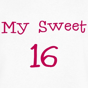 My sweet 16 Sixteen Birthday 1c T-Shirts - Men's V-Neck T-Shirt by Canvas