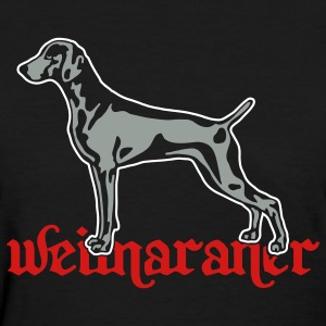 weimaraner cut out on dark Women's T-Shirts - Women's T-Shirt