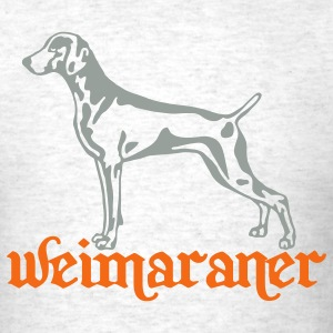 weimaraner cut out on light T-Shirts - Men's T-Shirt